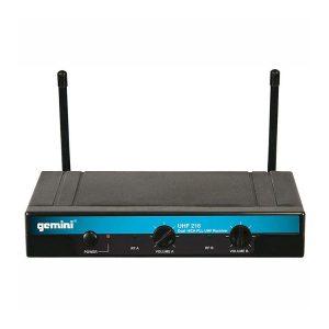 Gemini UHF-216HL Dual-channel Wireless System Lapel Lavalier