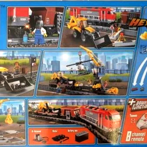 Back Cover of Toy Train City with Remote Box