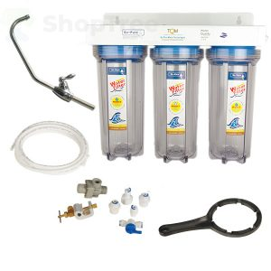 Water Filtration System NW PR-103-B PP Filter cartridges + GAC _ KDF Filter cartridges + CTO Filter cartridge 0.5 Micron filter.